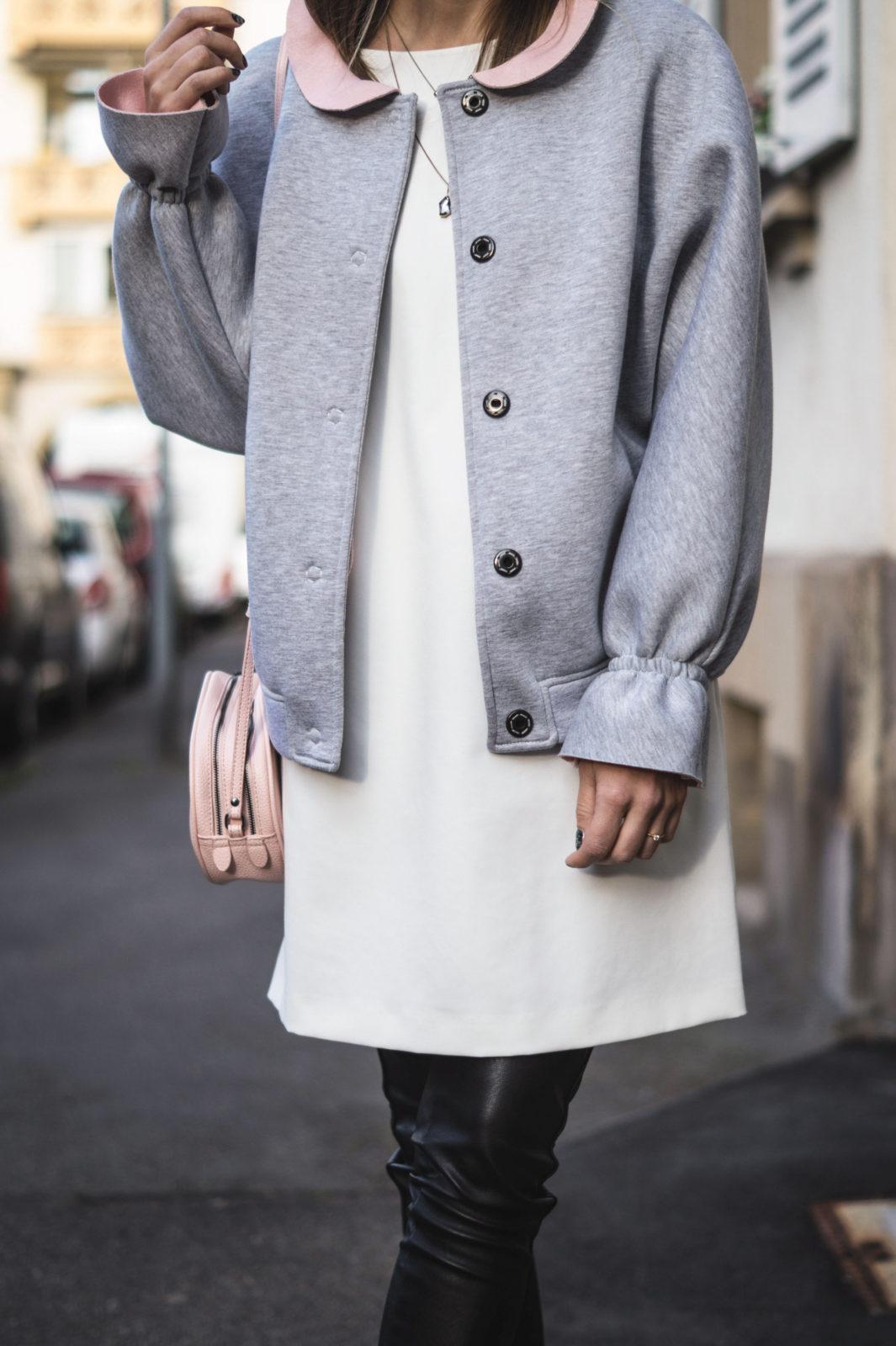 Gray-Bomber-Jacket-Bomberjacke-Grau-Rueschen-Rosa-Modeblog-Heidelberg-Fashionblogger-Details-Liebesglueck