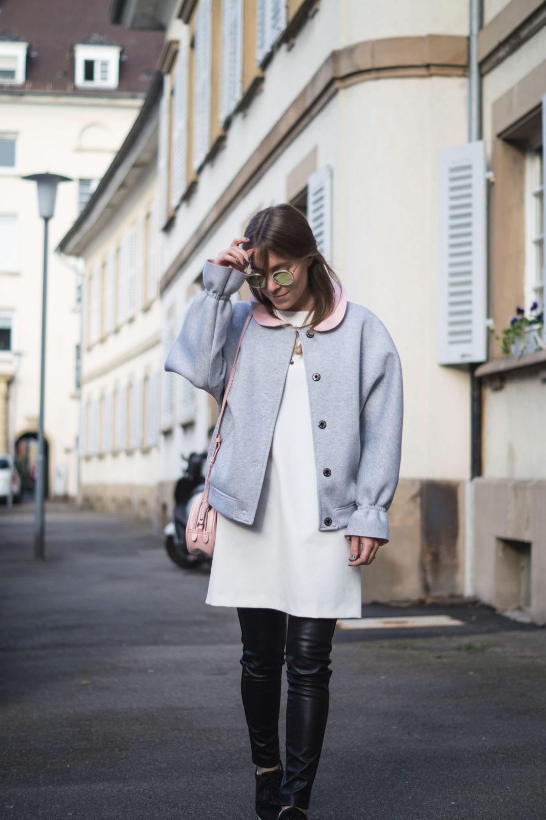 Gray-Bomber-Jacket-Bomberjacke-Grau-Rueschen-Rosa-Modeblog-Heidelberg-Fashionblogger-Streetstyle-Sariety-Casual