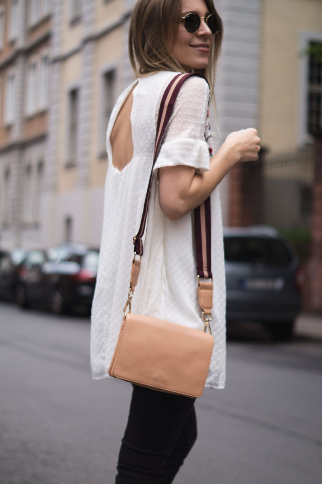 Floral Summer Dress Zara Jumpsuit Black Loafers Pantoletten Sommerkleid Streetstyle Heidelberg Sariety Modeblog Fashionblogger