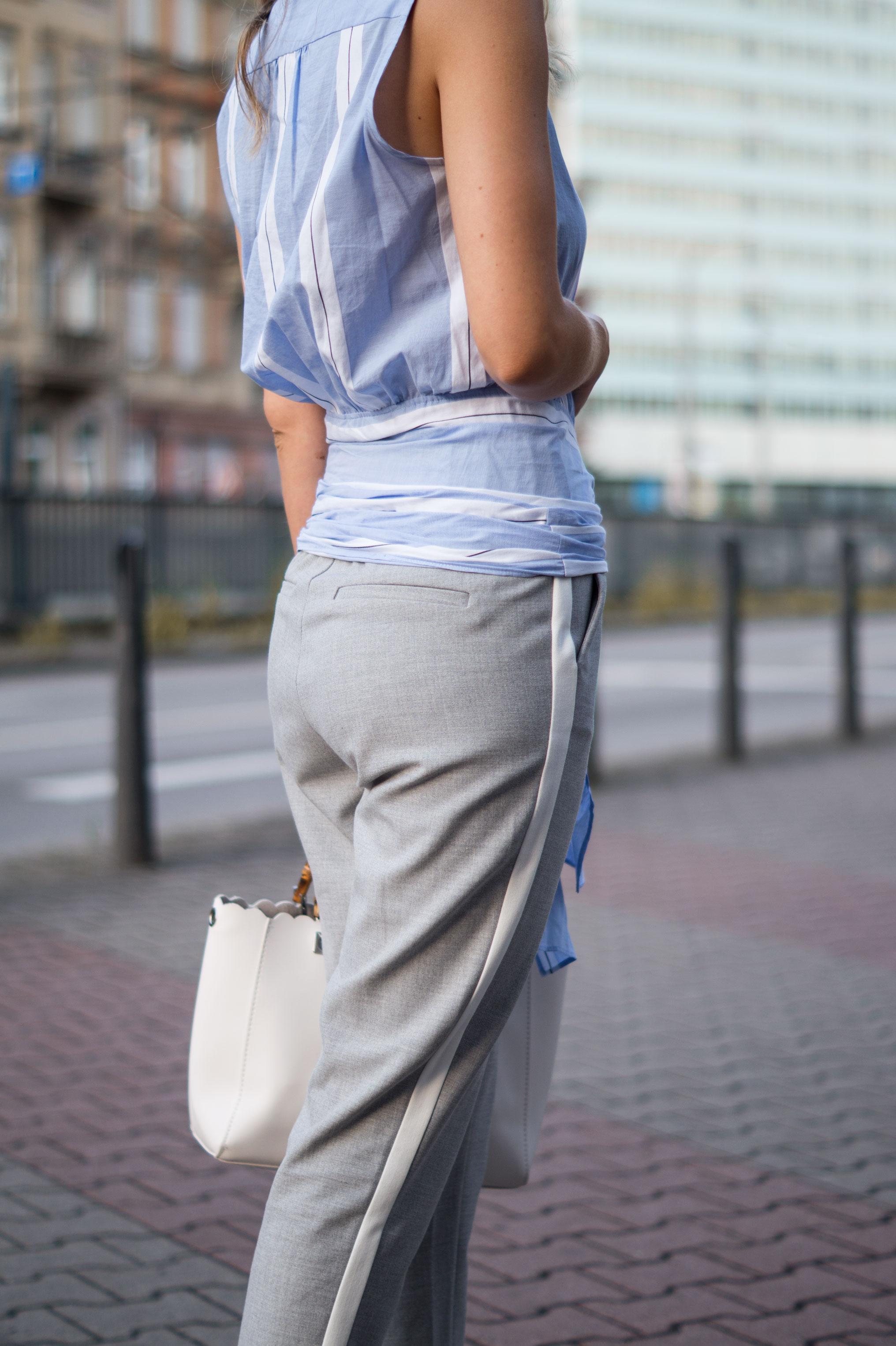 Mango Wrap Blouse Knotenbluse Joggers Sariety Fashionblogger Modeblog Heidelberg Streetstyle-11