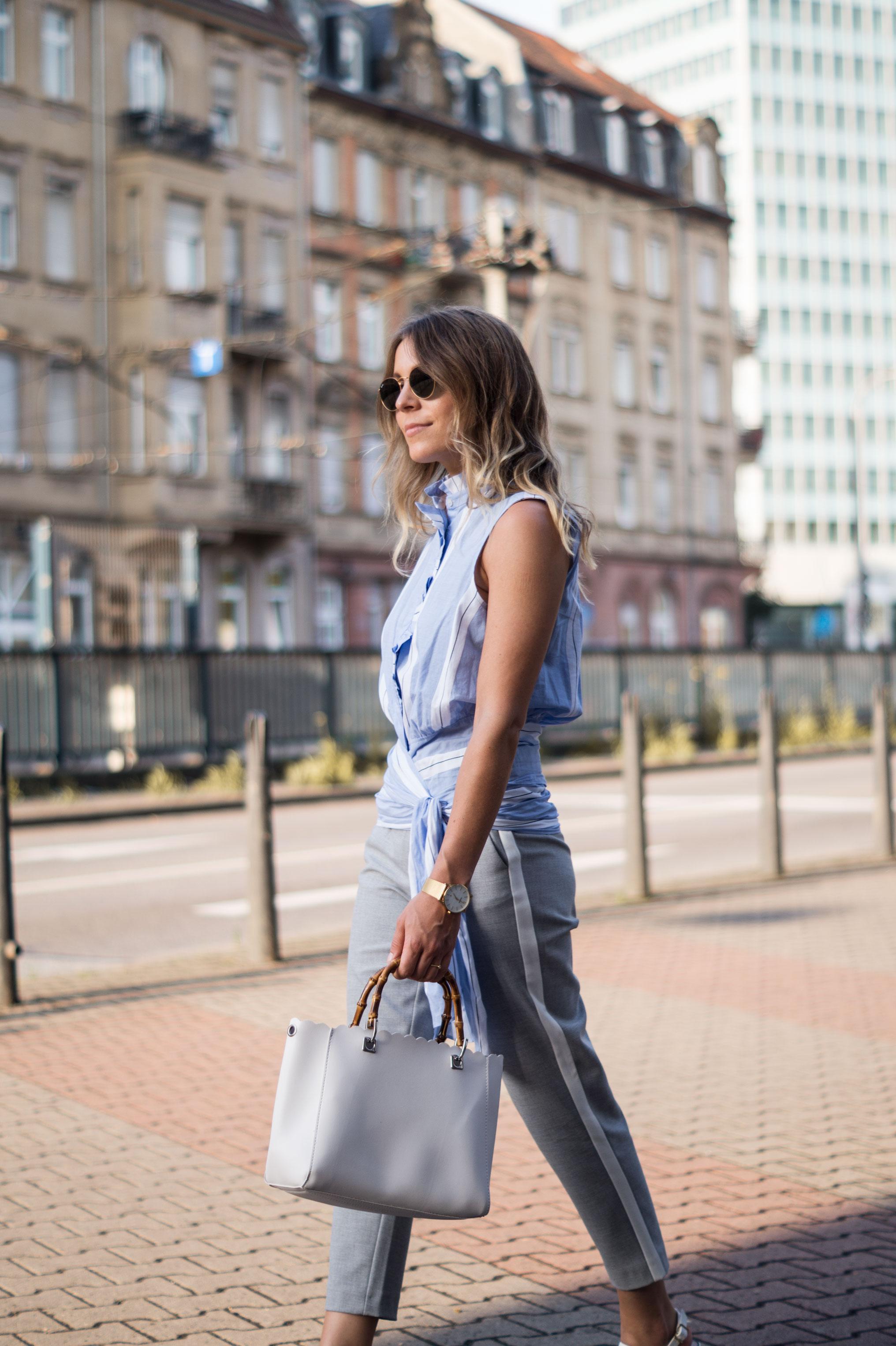 Mango Wrap Blouse Knotenbluse Joggers Sariety Fashionblogger Modeblog Heidelberg Streetstyle-4