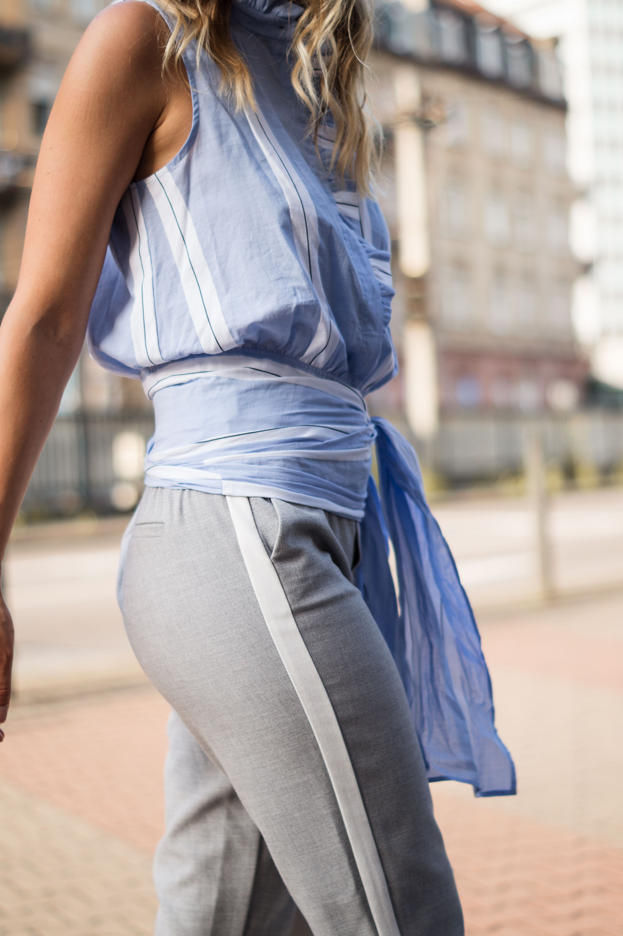 Mango Wrap Blouse Knotenbluse Joggers Sariety Fashionblogger Modeblog Heidelberg Streetstyle-5