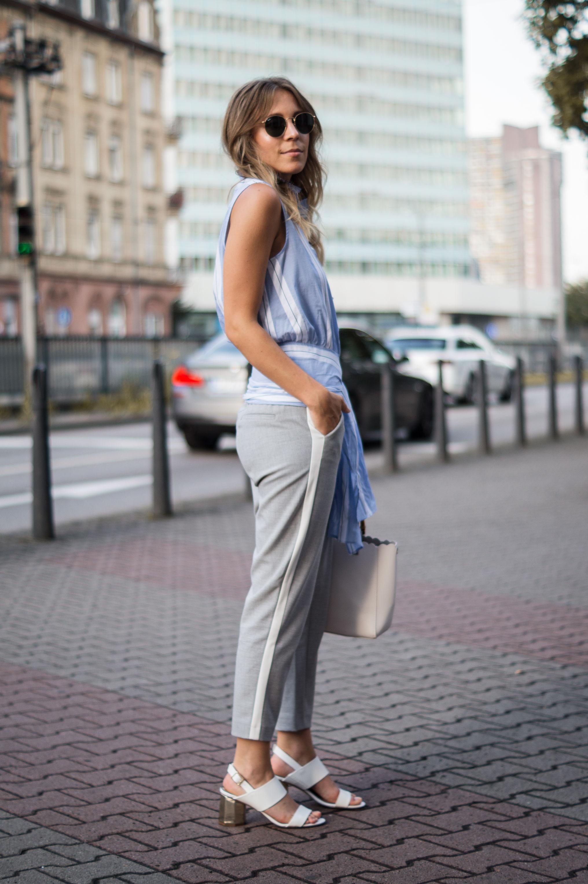 Mango Wrap Blouse Knotenbluse Joggers Sariety Fashionblogger Modeblog Heidelberg Streetstyle-9