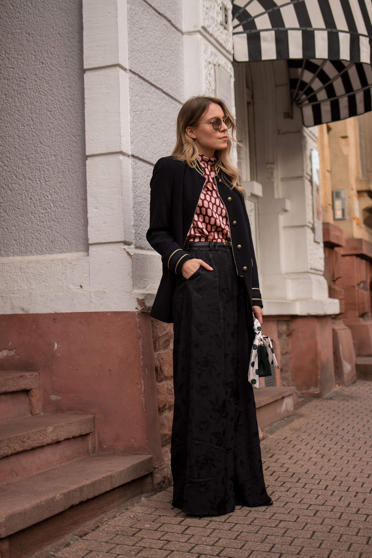 Marlene pants &otherstories retro look pattern mix army jacket marlene hose kombinieren andotherstories rayban rosé verspiegelt Streetstyle Modeblogger Heidelberg Sariety Fashionblog_11
