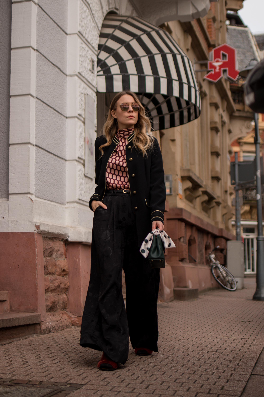 Marlene pants &otherstories retro look pattern mix army jacket marlene hose kombinieren andotherstories rayban rosé verspiegelt Streetstyle Modeblogger Heidelberg Sariety Fashionblog_13-001