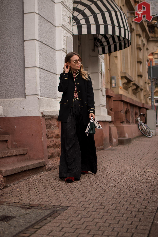 Marlene pants &otherstories retro look pattern mix army jacket marlene hose kombinieren andotherstories rayban rosé verspiegelt Streetstyle Modeblogger Heidelberg Sariety Fashionblog_6